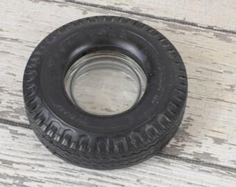Vintage Retro Firestone Transport 110 Tire Ashtray Advertising Tire Ashtray