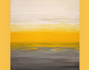 "Art Painting - Acrylic, Ora Birenbaum Art, Abstract Painting Original Art on Canvas Titled: Sunny Disposition 4 30x40x1.5"""