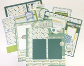 Baby Boy Scrapbook Page Kit or Premade Pre-Cut with Instructions Six Pages