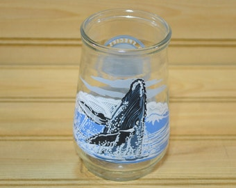 Vintage Endangered Species Collection Welch's Juice Glass Humpback Whale WWF Collectible
