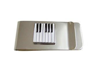 Square Piano Money Clip