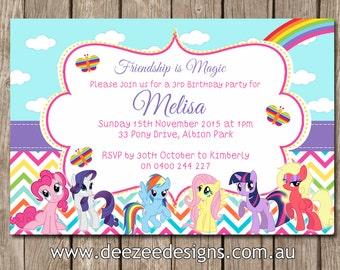 My Little Pony Birthday Invitations - You Print