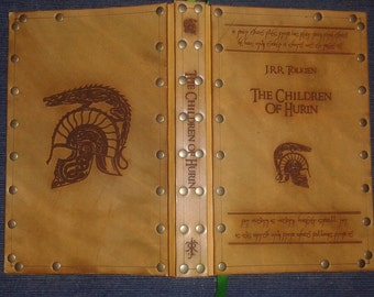 Leather covered copy of the Children of Hurin