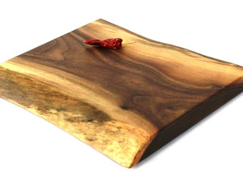 "Natural Edge Cheese Board - Black Walnut - Ready to Ship - 10""x9""x7/8"""