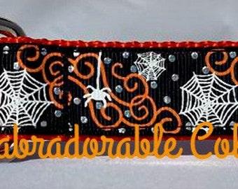 Halloween Dog Collar Spider Web dog collar