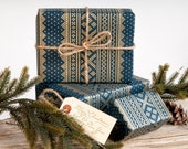 Winter Sweater Navy Blue / Wrapping Paper / 3 Sheets