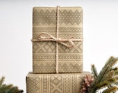 Winter Sweater - Green / Wrapping Paper / 3 Sheets