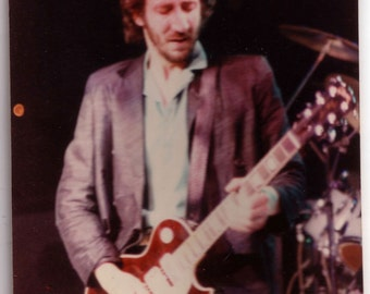 Color Photo of Pete Townshend of The Who 1979 with Period Inscription by Francesca