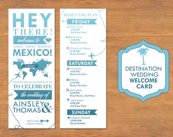 Destination Wedding Welcome Card