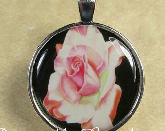 Rose Pendant, Pink Rose Necklace, Rose Jewelry, Rose Gifts, Rose Wedding Jewelry, Rose Bridal Jewelry, Mothers Day Gifts, Gifts for Mom