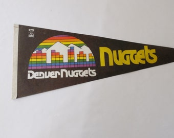 Vintage Pennant/ Denver Nuggets/ Athletics/ Sport Collectibles/ Souvenir/ Memorabilia/ Souvenir/ Large Felt Flag/ stillstunningvintage