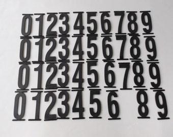 "4"" Plastic Numbers/ 39 Pieces/ Slide in Sign/ Marquee Letters/ 4""/ Black/  stillstunningvintage"