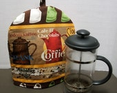 Cafetiere Cosy - French Press Cozy - Bodum Pot Cozy Cosy - Coffee from around the world