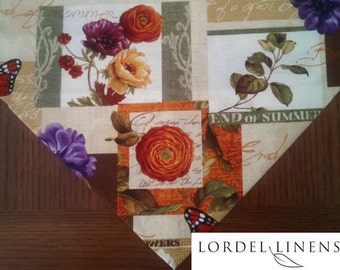 """Summer Table Runner, End of Summer, Early Fall Table Runner, Home Decor, Table Linens, 36"""" Table Runner"""