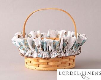 Snowman Medium Basket Garter, Hot Cocoa and Iced Mocha, Winter Decor, Basket Accessories