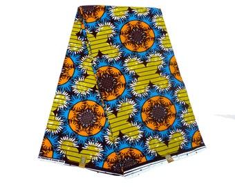 Ghanaian Ankara Fabric - by the Yard - African Dutch Wax - Cotton Ankara Print - GTP NuStyle