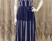 Gorgeous Miss Elliette designer embroidered early 70's maxi dress