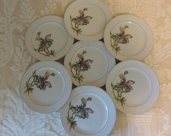 Vintage Mismatched China SIX 6 Small Plates for Wedding Reception Bridal Luncheon Showers Hostess Gift Tea Party Craft Jewelry Making