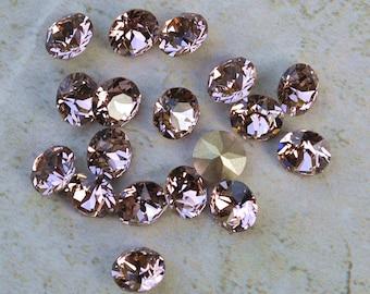18 Vintage Rose 34ss Swarovski Xirius Round Rhinestones-Loose Rhinestones-Loose Crystals-Wholesale Rhinestones