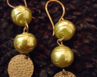 Boho Vintage Inspired Sweet Pea Bridal Whimsy Drop Earrings