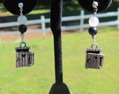 Vintage Americana Mechanical Outhouse Earrings