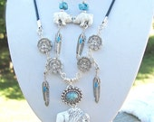 The Elder - White Buffalo Totem Necklace and Earrings