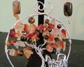 Autumn in The Park - Tree of Life Pendant or Brooch Iconic Central Park Horse and Carriage