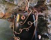 Rainbow Obsidian Wire Wrapped Amulet