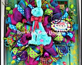 RAZ Easter Wreath, Spring Wreath, Easter, Spring, Spiral Wreath, RAZ WREATH