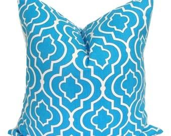 Blue Pillow.20x20 inch Decorative Pillow Cover.Blue Pillow Cover. Bright Blue Pillow. Blue Pillow Cover.Blue Cushion Cover. Blue Tiles, cm
