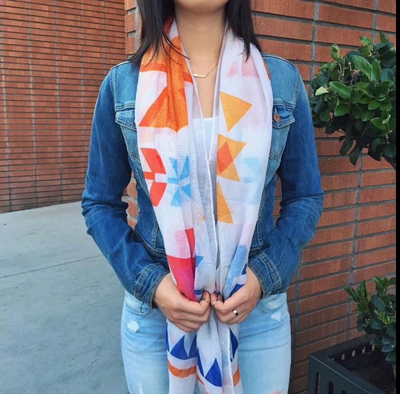 tribal aztec scarf summer lightweight soft scarf best