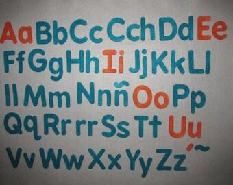 Felt Spanish Alphabet Set Español Abecedario / Alfabeto Español