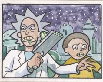 Rick & Morty Sketch Card