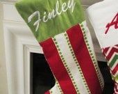Holiday Stocking - Home Decor - Choose Your colors and Prints - Personalized Stockings