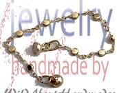 Petite Antique Gold Coin Infinity Bracelet