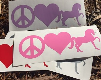 Peace Love Morgans Vinyl Decal