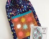 Drawstring Bag Pattern, Sewing Pattern, Quilting, Travel Bag Pattern, Tiffany Drawstring Bag