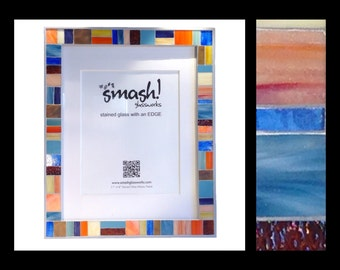 Oceanside - Stained Glass Mosaic Picture Frame (11x14)