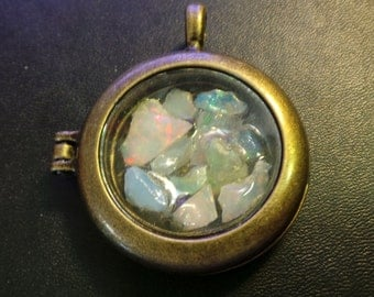 Precious African Welo Rough Opal Pendant Worry Locket