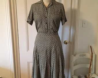 French Josianne Couture of Paris Two-Piece Skirt Set
