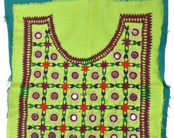 VINTAGE Banjara Neck Yoke Hand Embroidered Applique Patch sewing textile AB77