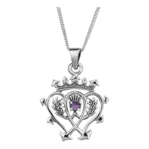 Handmade sterling silver scottish luckenbooth necklace for Mary queen of scots replica jewelry