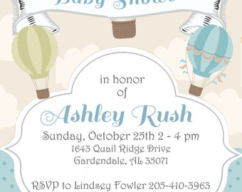 Baby Shower or Sprinkle Invitations