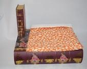 SALE Fall Orange and Ivory Leaves with Ivory Fleece Snuggle Bag