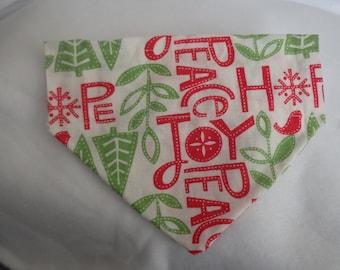 SALE Christmas White Hope and Joy S Small Dog Bandana