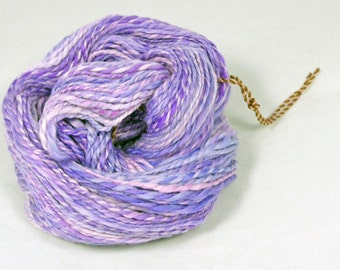 Lavender Love optim 2 ply merino yarn. Hand spun, solar dyed -  Pure merino  wool yarn. 16 micron  super soft optim merino