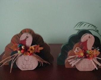 Turkey, Thanksgiving, holiday, shelf sitter, decoration, raffia