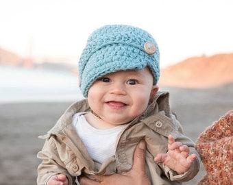 Toddler Winter Hat,  Toddler Newsboy Hat, Toddler Boys Hat, Children's Hat, Childs Hat, Childs Newsboy Hat, Boys Hat, Toddler Newsboy Cap