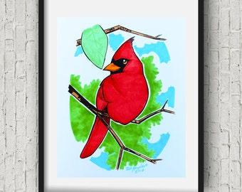 Bird Nursery decorkids room decor baby cardinal Nursery Art Print 8x10 11x14 16x20