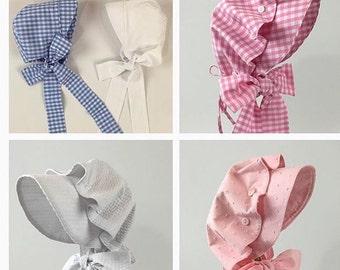 Spring/ Summer Bonnet Collection- Girls Pink Swiss Dot
